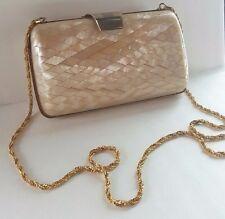 Vintage Lisette  Hard Mother Of Pearl  Evening Bag  Clutch