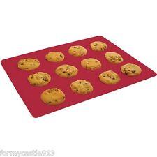 NORPRO 3402D Reusable Silicone High Heat Baking Mat Sheet Liner Red