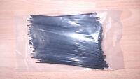 100 x Kabelbinder UV schwarz 140 x 3,5 mm Polyamid 6,6 INDUSTRIEWARE ELEKTRO NEU