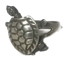 Vintage Sterling Silver Moving Turtle Ring Band Size 5.5 3.5g