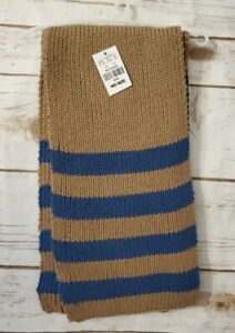 The Children's Place Knit brown/blue Scarf One Size NWT