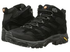NEW Mens Merrell Moab 2 Vent Mid Suede Leather Black Night Hiking Boots GENUINE