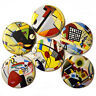 Bauhaus Fridge Magnets Set 55mm 6pc German Art Painting Abstract Gift