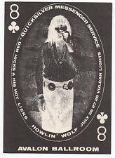 1960s Family Dog Handbill Postcard Quicksilver & Dan Hicks at the Avalon 9+