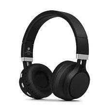 RockPapa Foldable Adjustable Wireless Bluetooth Headphones Over Ear w/ Mic Black