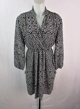 Bar III Black & White Print Faux Wrap Dress Size XS LK525