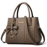 Lady PU Leather Handbag Crossbody Shoulderbag Tote Hobo Messenger Satchel  Khaki