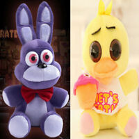 "HOT 2PCS FNAF Five 5 Nights at Freddy's BONNIE & CHICA 10"" Plush Doll Toy Gift"
