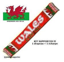 ECHARPE + DRAPEAU PAYS DE GALLES WALES scarf schal fahne flag No maillot fanion