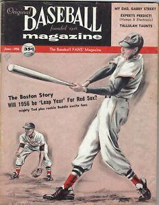1956 Baseball Magazine Ted Williams, Boston Red Sox GOOD w/ mark