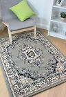 Lancaster Oriental Traditional Classic Design Grey Silver Rug in 7 sizes Carpet