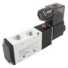 DC 12V 5 Port 4 Way 2 Position Solenoid Air Valve For Pneumatic System New