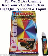VCR VHS Video Head Cleaner Wet And Dry For Video Recorder And Player New