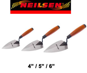 """4""""/5""""/6"""" Pointing Trowel Plastering Cement Mortar Trowels Neilsen With Sets"""