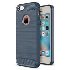 For iPhone 5S 5 Case & iPhone SE Case - Shockproof Carbon Fiber Soft TPU Cover
