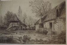 DESSIN D'UNE FERME   LE SAUVAGE 1898