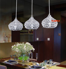 1 Light NEW Modern Elegant LED Crystal pendant Lamp Kitchen Bar ceiling Lighting