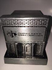 Evansville Teachers Federal Credit Union 1974 Metal Still Cast Iron Bank