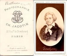 Jacotin, Paris, Ludwig van Beethoven, compositeur allemand Vintage CDV albumen c