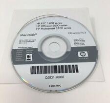 HP Printer Install CD Mac - Series PSC 1400 1500 Officejet 5600 Photosmart 3100