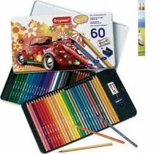 COFFRET METAL TOP ASSORTIMENT 58 CRAYONS COULEUR BRUYNZEEL +GOMME+TAILLE CRAYON