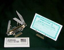Schrade 834Uh Knife Trail-master Rare Ducks Unlimited Stockman 1989 Nos W/Papers