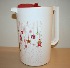 Tupperware Christmas Holiday Classic Gallon Pitcher Push Button Seal New