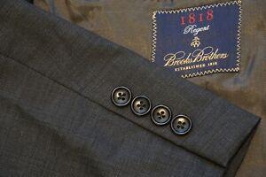 Brooks Brothers Regent Gray MicroNailhead Peak Loro Piana Wool 2 Pc Suit 42S