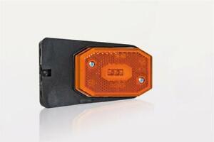 12/24V AMBER SIDE LED clearance marker light lamp reflector angle bracket and...