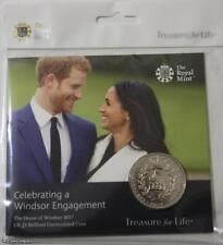 2017 Prince Harry Meghan Windsor Engagement £5 Five Pound Coin Royal Mint Pack