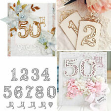 Lace Numbers 1-10 Metal Cutting Dies Stencil Scrapbooking Embossing Card Craft