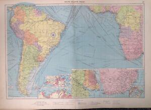 South Atlantic Ocean, 1952, Mercantile Marine Atlas, Philip