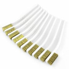 Lot of 24 3 inch Brass Wire Brush Heavy Duty With ABS Plastic Handle