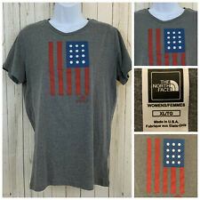 THE NORTH FACE T-Shirt Backyard Project American Flag Gray Size Juniors XL NWOT