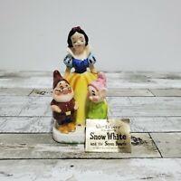 Disney Enesco - Snow White Seven Dwarfs Napkin Holder Salt Pepper Shaker - 1960