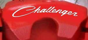 Dodge CHALLENGER SCRIPT STYLE Curved Brake Caliper Decals (8)