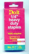 """5 Boxes Do it 1/4"""" Heavy Duty Staples-1000 to a Bx"""