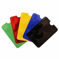 5PC Anti-theft Safety Sleeve Wallet RFID Blocking Protect Case Cover Card Holder