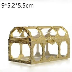 1PC Marriage Gift Party Treat Gold Foil Wedding Favor Cake Candy Box