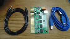 JAMMA INTERFACE TO 2 USB PC JOYSTICK W AUDIO AMPLIFIER PCB for MAME or HYPERSPIN