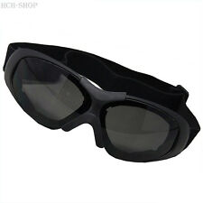 MFH Occhiali moto Occhiali da motociclista Run nero con dimensione regolabile