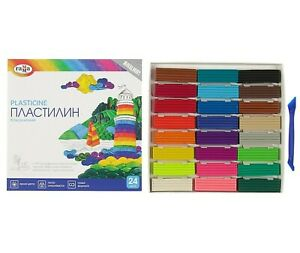 Modelling Clay Set of 24 Colors Russian Plastilin Plasticine 480 gr