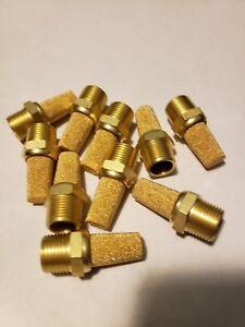 """3/8"""" NPT Pneumatic Muffler Silencer Sintered Bronze (Qty-10) 15015"""