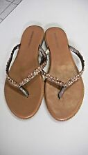 NEW BANANA REPUBLIC SZ 8 RHINESTONE SANDAL SLIP ON FLIP FLOPS