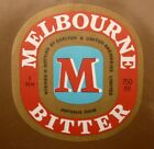 OLD AUSTRALIAN BEER LABEL, 1980s MELBOURNE BITTER CUB, 750 ML TYPE 2