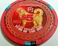 Palace Station $5 Casino Chips 2018 Year Of The Dog