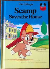 Walt Disney Scamp Saves the House Lady and the Tramp HB Book 1981 World Reading