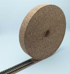 4mm X 35mm OO-gauge model railway cork track underlay roll (10m)