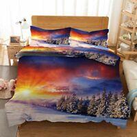 Sky Superposition 3D Printing Duvet Quilt Doona Covers Pillow Case Bedding Sets
