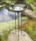 70cm Tall Metal Birdbath Bird Bath with Stand Garden Ornament Pond Outdoor Decor